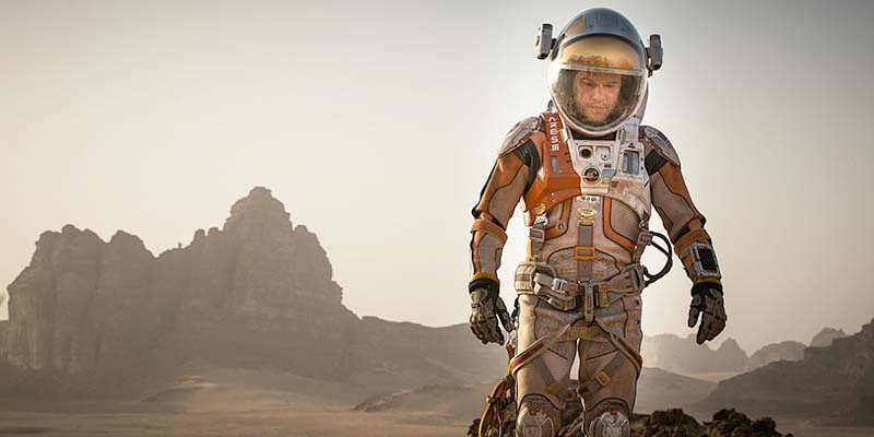 ASTRO NOT Matt Damon has plenty of time to think after being left for dead on Mars.