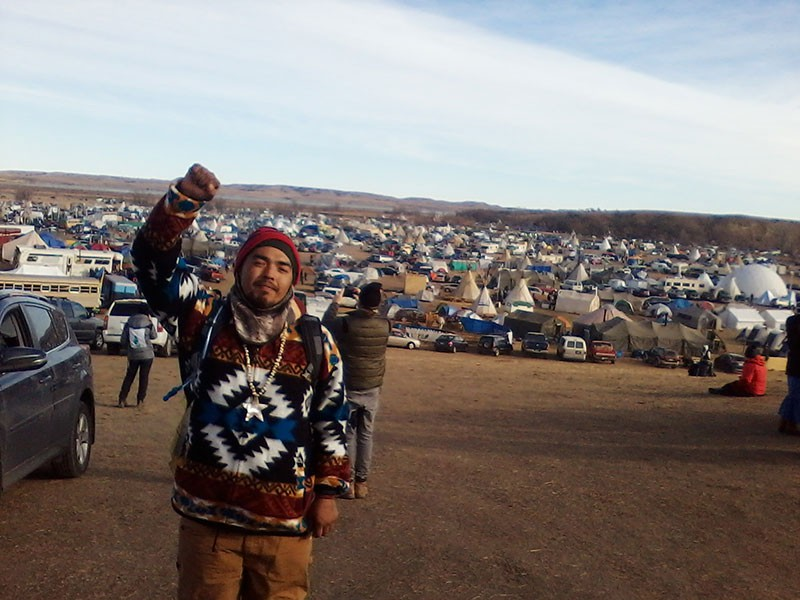 FRONT LINE Loren Lincoln, a Wailaki from the Round Valley Indian Tribes in Mendocino County, journeyed to Standing Rock. - WILL PARRISH