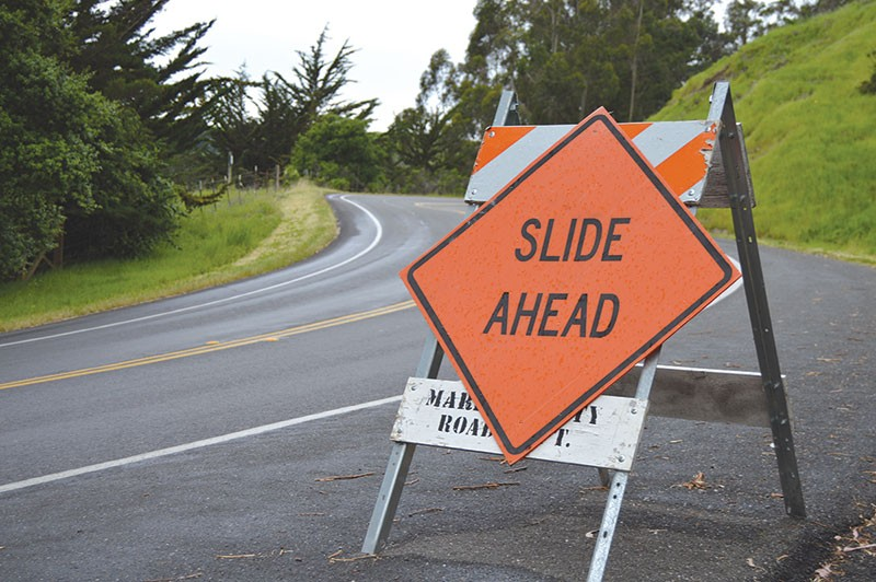 ROAD TO RUINS  This past winter has been particulary hard on local roads. Marin was the hardest hit county in the state.