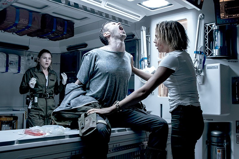 SPACE FACE  Humans, androids and xenomorphs mix it up in 'Alien: Covenant.'