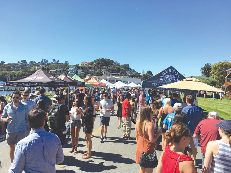 BEER HERE  In addition to great brews, Tiburon's fourth annual beer fest boasts great views, too.