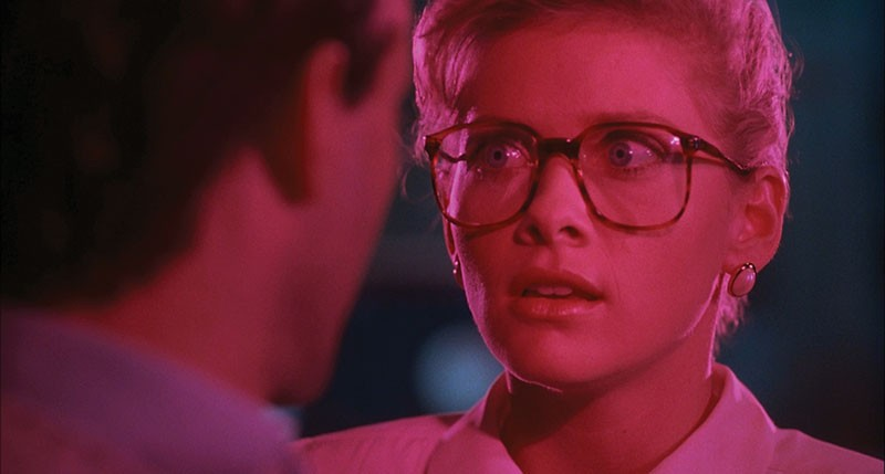 GET A GOOD LOOK  Barbara Crampton stares down some weird stuff - in 'From Beyond.'