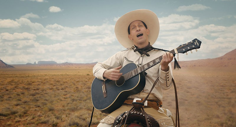 COOL, CLEAR WATER Tim Blake Nelson plays a chummy, crooning cowboy in 'The Ballad of Buster Scruggs.'