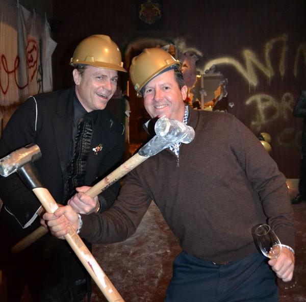 Jean-Charles Boisset (left) breaks down his new brewery in Windsor.