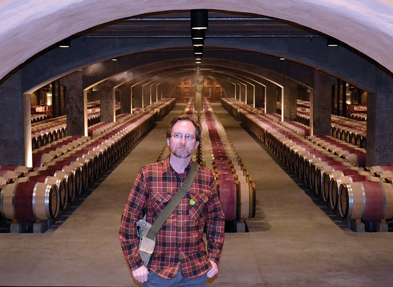 BARRELS OF FUN Is roving imbiber James Knight a secret admirer of yummy, fruit-flavored wine?