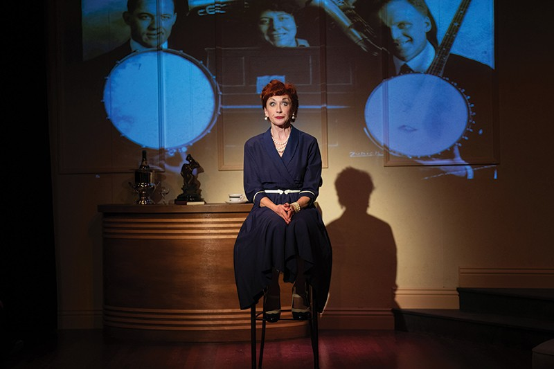 PROJECT PORTER Maureen McVerry and a bevy of video projectors relay the life of Cole Porter in 'Love, Linda.' - VICTORIA VON THAL