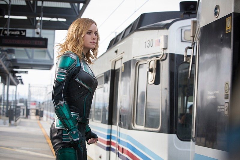 MIND THE GAP, CAP Real heroes take the train in 'Captain Marvel.'