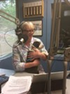 <b>THE VETERAN</b>  Pat Kerrigan fled fire around her Kenwood home and headed straight to the studio to report on the growing disaster.