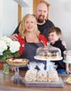 <b>FAMILY MEAL</b> Michele Wimborough owns Hazel Restaurant with her husband and chef, Jim Wimborough. We're guessing their son, Graham, gets free cupcakes.