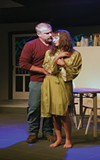 <b>GETTING TO KNOW YOU</b> Chris Schloemp and Paige Picard get intimate in a scene from 'The Realistic Joneses'.