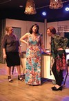 <b>COFFEE KLATCH </b>Angela Squire, center, dates a serial killer in the funny 'Women in Jeopardy.'