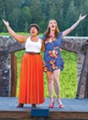 <b>GET HAPPY</b> Shaleah Adkisson, left, and Courtney Markowitz sing a duet made famous by Judy Garland and Barbra Striesand.