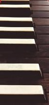 The keys of a 1692 harpsichord