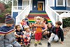 <p><b>FIRST STEPS<b/> The children of TIDE founding members take a stand by a rainbow staircase.</p>