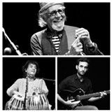 Charles Lloyd, Zakir Hussain, and Julian Lage. - Uploaded by HealdsburgJazz