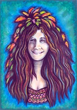 SLICK DOES JANIS Grace Slick's portrait of Janis Joplin will be part of San Rafael Rock's art show.