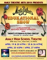 "Don't Miss Monty Python's ""EDUKATIONAL SHOW"" at the Analy High School Theatre - Uploaded by Mamazon"