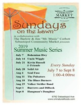 Sundays on the Lawn Summer Music Series - Uploaded by minkoff@cmnaturalfoods.com
