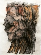 Zea Morvitz, Rough Head (Mesa Refuge-003), graphite and ink on paper, 11 x 8 ins - Uploaded by Vickisa