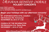 Join California Redwood Chorale for our Fall 2019 concerts! - Uploaded by anvipond