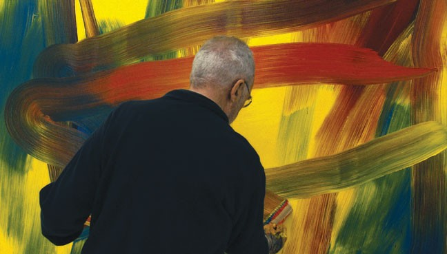 UNADORNED Much of 'Gerard Richter Painter' simply shows the artist at work in large-scale settings.