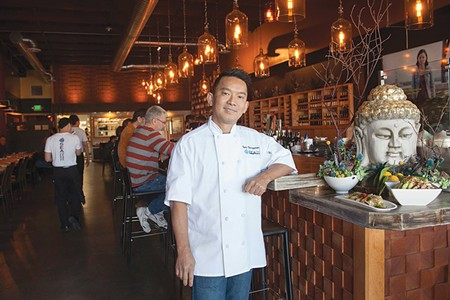 USING HIS NOODLE Chef Tony Ounpamornchai blends flavors of Southeast Asia and the west at SEA Noodle Bar. - MICHAEL AMSLER
