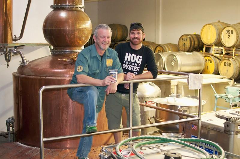 VAT AND BARREL Brendan Moylan and Tim Welch at Stillwater Spirits in Petaluma. - ANNELIESE SCHMIDT
