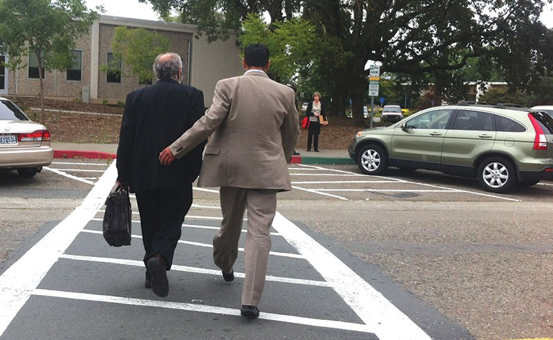 WALKING AWAY Three and a half months of delays for Efren Carrillo should come to an end with this week's court date. - GABE MELINE