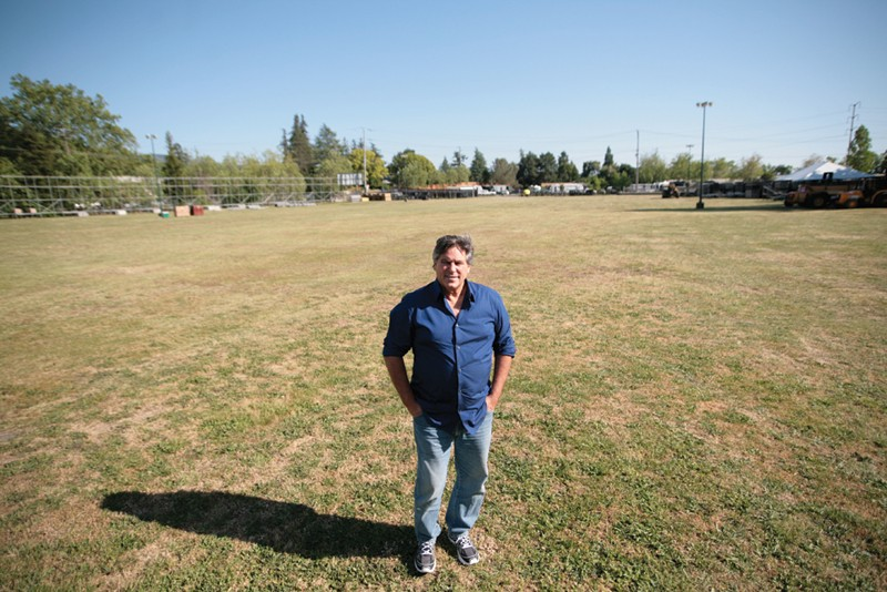 WHERE THE MUSIC LIVED BottleRock's Bob Vogt, pictured at the Napa Valley Expo field, says 'It's painful all around.'