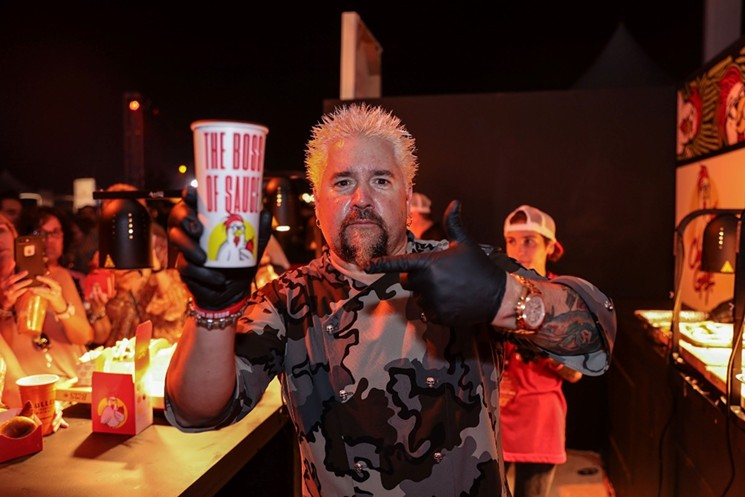 Guy Fieri at the SOBEWFF. - PHOTO BY WORLD RED EYE