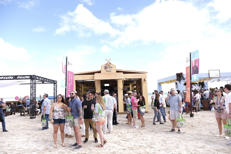 The Grand Tasting Village at the South Beach Wine & Food Festival. - PHOTO COURTESY OF SOUTH BEACH WINE & FOOD FESTIVAL