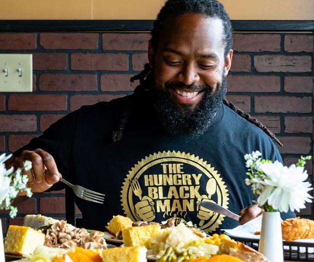 Starex Smith — AKA the Hungry Black Man — will host the International Black Food & Wine Festival. - PHOTO COURTESY OF STAREX SMITH