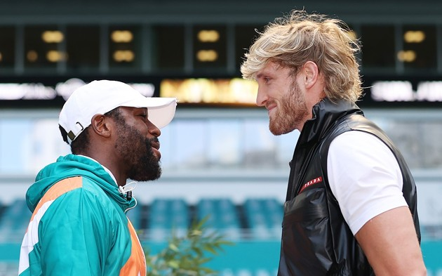 There is more financial incentive for Floyd Mayweather to fight a social-media personality like Logan Paul than another professional boxer. - PHOTO BY CLIFF HAWKINS/GETTY IMAGES