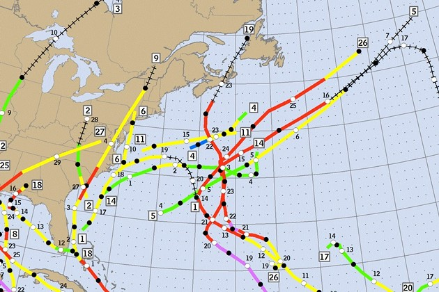Not this again. - IMAGE COURTESY OF THE NATIONAL HURRICANE CENTER