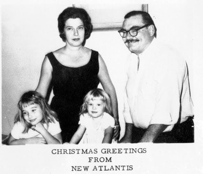 Doris and Les Hemingway raised their daughters, Anne and Hilary, in Coconut Grove, the capital of New Atlantis. - COURTESY OF ANNE AND HILARY HEMINGWAY