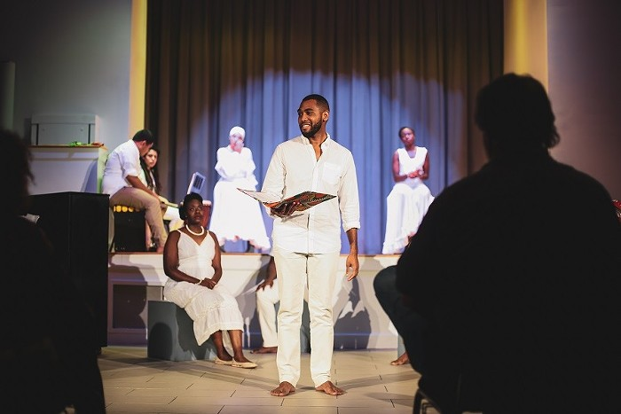Kunya Rowley is the artistic director of Hued Songs, which began after receiving initial funding from the Knight Foundation. In 2018, Hued Songs presented Spirituals & Òrì?às at the Overtown Performing Arts Center. - PHOTO COURTESY OF HUED SONGS
