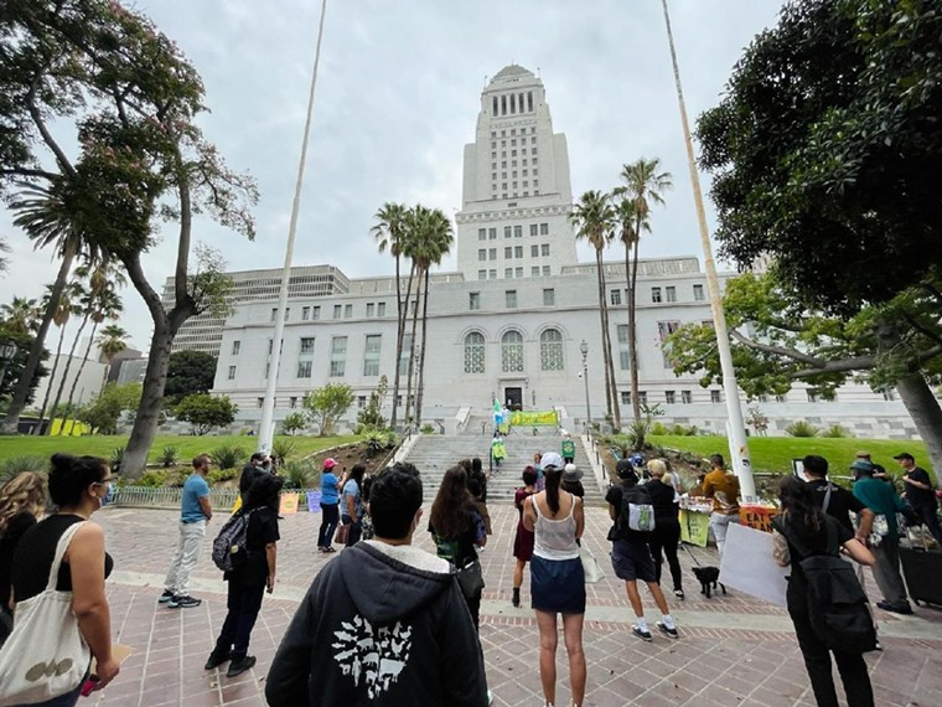 Supporters of the Plant Based Treaty urge legislators to support it. - PHOTO COURTESY OF THE PLANT BASED TREATY