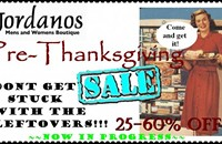 Another pre-Thanksgiving sale: Jordanos