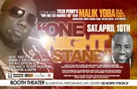 Malik Yoba to discuss sex, love, Tyler Perry