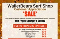 Sale of the day: WallerBears Surf Shop