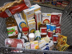 COURTESY LOAVES AND FISHES - $36 worth of groceries, which makes several meals for a family
