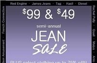 Sale: Black & Blue's $99 and $49 jean sale