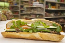 ANGUS LAMOND - A Bahn Mi sandwich at Zen International