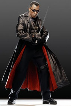 DIYAH PERA / NEW LINE - A BLADE WITH DULL EDGES Wesley Snipes stars in - the lackluster sequel Blade: Trinity
