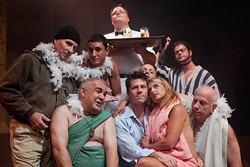A HEAVENLY SHOWER: The bathers in CAST's Steambath