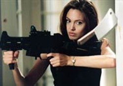 STEPHEN VAUGHN / FOX - A JOLIE GOOD TIME Assassin Angelina Jolie enjoys her - dangerous lifestyle in Mr. and Mrs. Smith