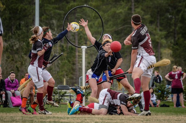 A match at the US Quidditch World Cup in 2014 reveals how serious the game can get.