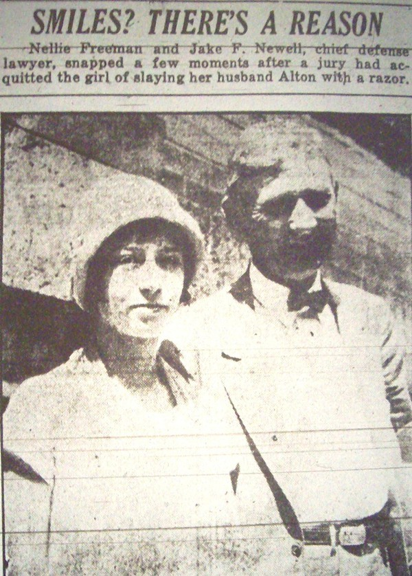 A microfilm screenshot from the pages of The Charlotte News.