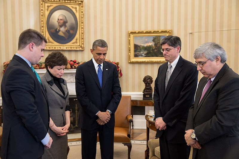 A moment of silence observed in the White House on December 21, 2012