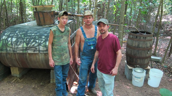 A promo photo from Discovery's popular show Moonshiners - DISCOVERY CHANNEL